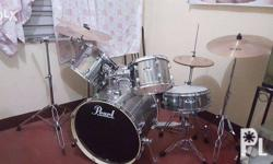 FOR SALE: Pearl Mid-Entry Drumset with 5 Zildjian