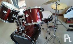 Fernando drumset complete set 14 hhat 16 crash drum