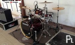 Drumset for rent Ludwig Element Birch 5pieces shells,
