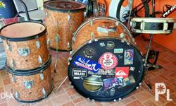 Set includes Snare Drum W/ Stand Low, High and Floor