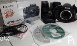 Canon 600D- complete with box, manuals, cables & CD's
