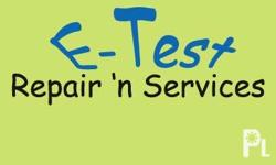 E-Test accepts electronic repair and services that