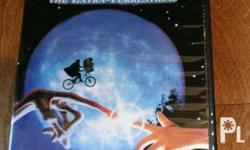 E. T DVD, barely used, good case and cd, please text no