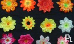 Artificial Flowers made of polyester fabrics or satin.
