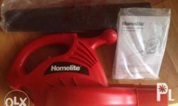 HomeLite 7amp Electric Blower 150mph 110Volts see box
