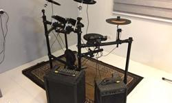 1 - NU-X DM2 drumkit (comes with drum cables, pads,