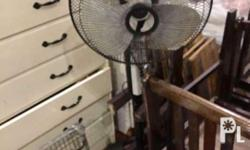 Almost brand new. Slightly used 1 large electric fan