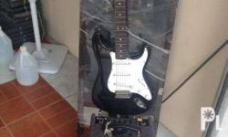 Electric Guitar with an amp together text for more info