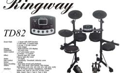 Brand New Ringway TD82 Electronic Drum Set Contact