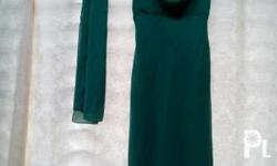 Long dress Green in color Elegant Used once