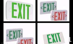 Emergency Exit Sign Size: 298mm(L) x 184mm(H) Wattage: