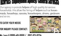 RENPRES EMPLOYMENT AGENCY IF INTERESTED PLS CALL OR