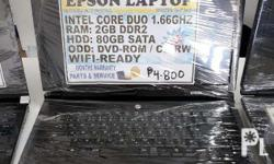 epson core 2 duo laptop 2gb ram 80 hdd 100 percent in