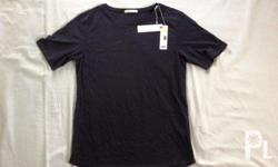Esprit plain black shirt Original new bought from Hong