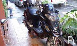euromotor 150cc scooter black modified with carrier