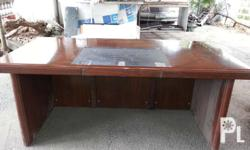 Executive office table laminated duco finish and wood