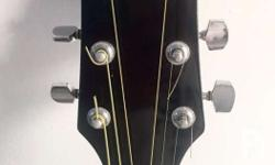 Fernando guitar in classic black color with white