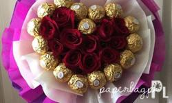Heart Fererro bouquet P2600 Additional Ferrero 60/each