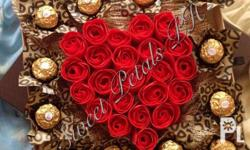 Flowers and Ferrero in a box by Sweet Petals PH Avoid