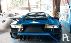 Fiberglass exterior body shell without accessories