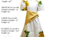 Brand new Filipiniana Costumes for KIDS (sizes and