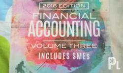 Selling my financial accounting book vol. 3 Author: