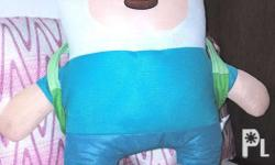 Finn. Stuffed Toy 2ft tall Slightly Used. With BMO Toy.