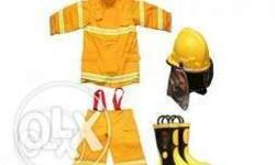 Fire suit three layers, cotton twill, Nomex and fire
