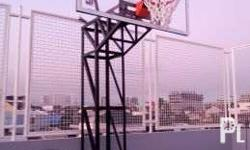 Heavy duty Fixed Basketball stand complete set! FREE
