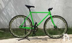Size 50 fixie bike 50mm CAMOUFLAGE painted rims Celt
