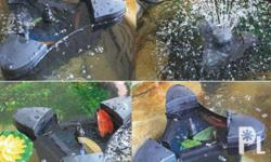 Floating Skimmer Filter / Fountain for Fish Pond by
