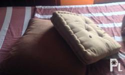 2 pairs floor pillows in curduroy & thick cotton