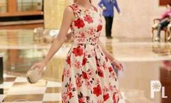 bodycon dress,,floral,with belt