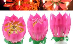 AMAZING HAPPY BIRTHDAY PINK MUSICAL SINGING CANDLE