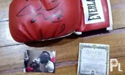 This is a Everlast boxing glove that has been signed by