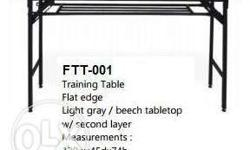 Fold-Able Training Table *Flat edge w/ Second Layer We