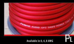 FIRLAND AUDIO POWER CABLE GAUGE 4 FOR ONLY 250 PESOS