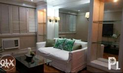 Furnished one bedroom corner unit condo with toilet &