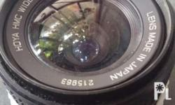 For sale 24mm Hoya canon mount manual lens good for