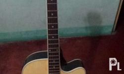 Acoustic guitar with pick up tuner and guitar bag, 4