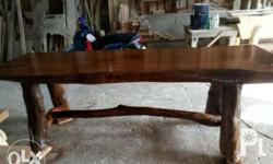 Century old mangga wood top size 4x30x8 with foot