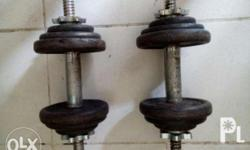 2 pcs. Dumb bells 20 lbs per dumbells Solid bar and
