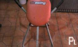 Abs Swing Secondhand, red foam with black metal..Pls.