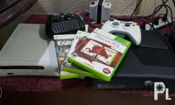 Xbox 360 Console With one Controller 3 original games