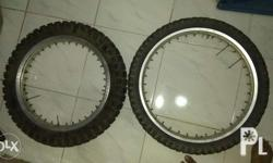 for sale xr200 original rims ang wing2000 tires. rear