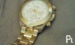 Selling husband's Original Fossil Chronograph - Gold.