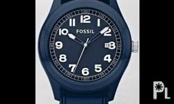 Deskripsiyon Fossil All Blue Sports Silicone Watch