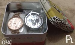 Item: Fossil Watch Lot as follows: 1) Left side - Gold