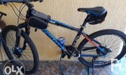 Foxter Mountain Bike (blue) with accessories (seldom