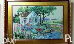 Framed Cross Stitch for sale